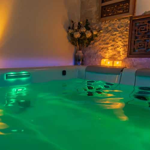 Im guten Day SPA Whirlpool mit Unterwasser Massage Einheiten